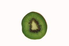 Plak van vers geïsoleerd kiwifruit Stock Foto