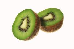 Plak van vers geïsoleerd kiwifruit Stock Afbeeldingen