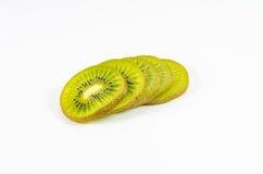 Plak van vers kiwifruit op wit Royalty-vrije Stock Afbeelding