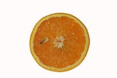 Plak van verse geïsoleerde sinaasappel Stock Foto