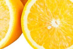 Plak van verse rijpe sinaasappel Stock Foto's