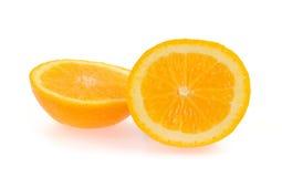 Plak van verse sinaasappel Stock Foto