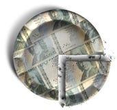 Plak van Zweedse Kronor-Geldpastei Stock Foto's