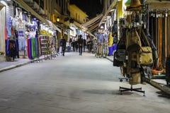 Plaka晚上市场在雅典 库存图片