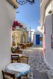 Plaka村庄,芦粟海岛, Cyclades,希腊 库存照片