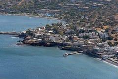 Plaka,克里特岛海滨胜地 希腊 库存照片