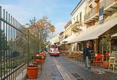 Plaka,希腊街道  库存图片
