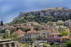 Plaka and Acropolis. Royalty Free Stock Photos