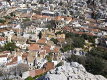 Plaka, Anafiotica, Residential area under the Acro Royalty Free Stock Photos