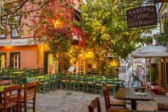 Plaka a Atene immagini stock