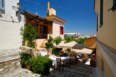 Plaka in Athens, Greece. Royalty Free Stock Photo