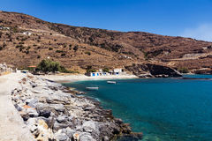 Plaka beach Andros Royalty Free Stock Photography