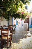 Plaka city in Milos island Royalty Free Stock Images
