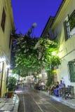 Plaka, een oude historische buurt van Athene Stock Foto