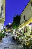 Plaka, een oude historische buurt van Athene Royalty-vrije Stock Afbeelding