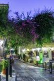 Plaka, een oude historische buurt van Athene Stock Foto's