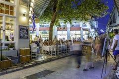 Plaka, een oude historische buurt van Athene Stock Fotografie