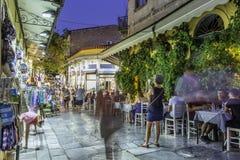 Plaka, een oude historische buurt van Athene Royalty-vrije Stock Afbeeldingen