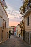 Plaka, la vieille ville d'Athènes Photographie stock libre de droits