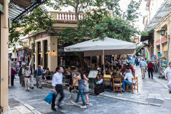 Plaka Neighbourhood Athens Greece Stock Photos