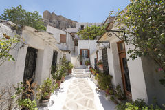 Plaka, old town of Athens Stock Photos