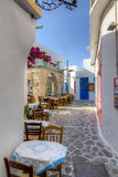 Plaka village, Milos island, Cyclades, Greece Stock Photos