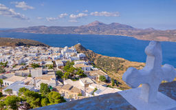 Plaka village view, Milos island, Greece Stock Photography