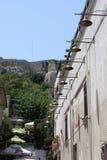 Plakaen är det äldsta avsnittet av Aten Område av restauranger, turist för smyckendiversehandel shoppar, och kaféer Royaltyfria Foton