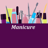 Plakatów narzędzia dla manicure'u Obraz Stock