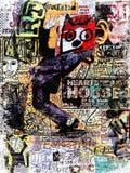 Plakat 70s Stockbild