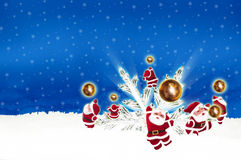 Plakat-Anschlagtafel-Weihnachten auf blauem Hintergrund Stockfoto