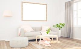 Plakat auf einem Wohnzimmer lizenzfreie stockfotografie