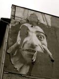 Plakat auf Wand in Berlin Stockfotografie