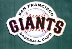 Plakat av Sanen Francisco Giants arkivfoton