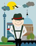 Plakat: Berlin, Deutschland Stockbild