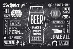 Plakat-Bier macht alles besser stock abbildung