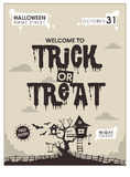 Plakat Browns Halloween Stockfotos
