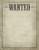 plakat chcieć Obraz Royalty Free