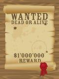 plakat chcieć zachodni dzikiego Zdjęcie Royalty Free