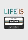 Plakat: Das Leben ist ein mixtape Stockbilder