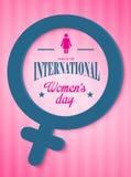 Plakat der internationalen Frauen Tages Stockbilder
