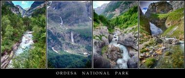Plakat der Landschaften von Ordesa Lizenzfreie Stockbilder