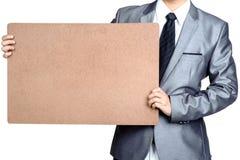 Plakat des Geschäftsmann Grifffreien raumes lokalisiert Lizenzfreie Stockfotos