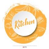 Plakat des Lebensmittelhandabgehobenen betrages vektor abbildung