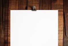 Plakat des leeren Papiers Stockfotografie