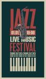 Plakat dla festiwalu jazzowego ilustracja wektor
