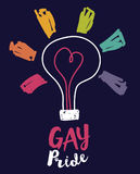 Plakat dla homoseksualnej miłości w nakreślenie stylu Obraz Royalty Free