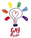 Plakat dla homoseksualnej miłości w nakreślenie stylu Fotografia Stock