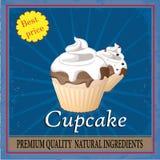 Plakat dla kawy z tortem Fotografia Stock