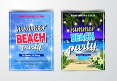 Plakat dla lata i plaży partyjnego tła Obrazy Stock